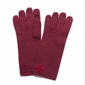 Tory Burch Womens Whipstitch Merino Wool Gloves